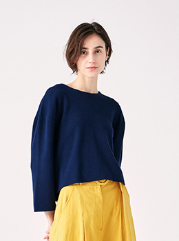 Back Taffeta Ribbon Knit Pullover