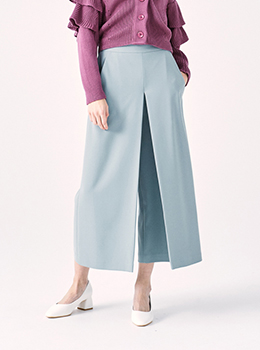 Front Box Tuck Wide Pants