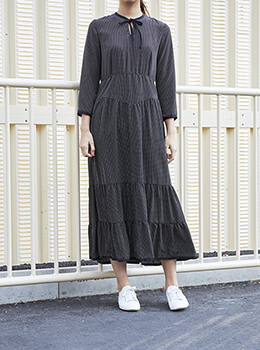 Dot Print Long Dress