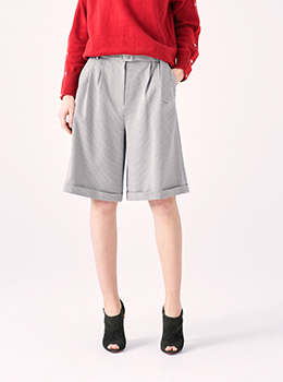 Knee-Length Belted Pants