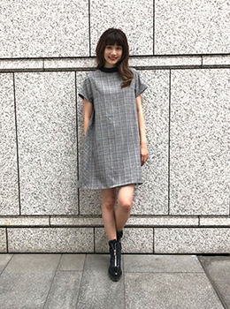 Check Cocoon Dress