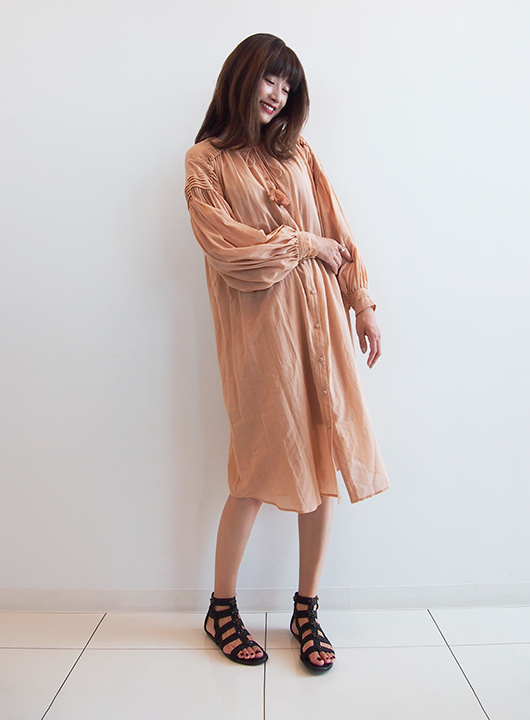 Sheer Crepe Dress