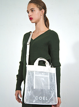 Mesh×PVC 2Way Tote Bag