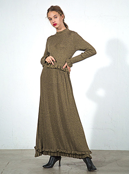 Glitter Knit Long Dress