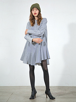Flare Shirt Tunic Dress