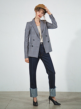 Glen Check Double Breasted Jacket