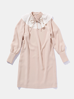 Ruffle Collar 2way Dress