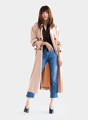 Cupra Satin Dress Trench Coat